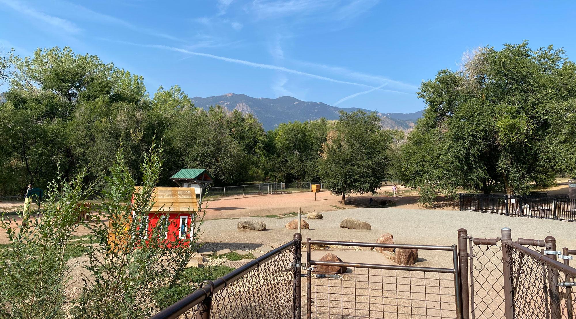 bear creek dog park, the largest of colorado springs dog parks